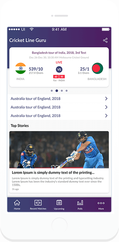 Cricket Line Guru app